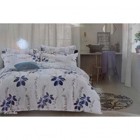 Lenjerie de pat cu 6 piese din bumbac satinat 250 x 230 cm LP6P-28