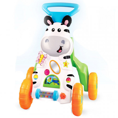 Premergător Little Zebra Push Walker & Floor Play SunLike