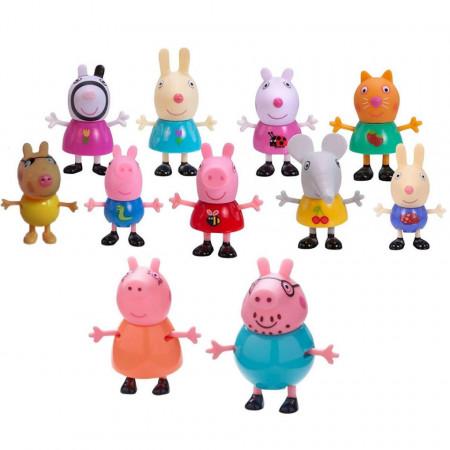 Purcelușii Peppa Pig și prietenii - Set de 11 figurine