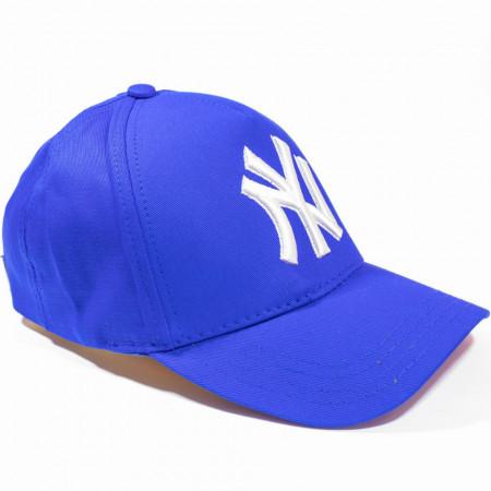 Șapcă albastră logo New York alb