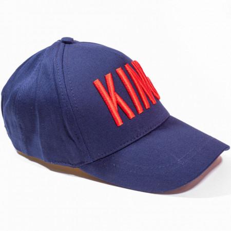 Șapcă albastru închis logo King roșu