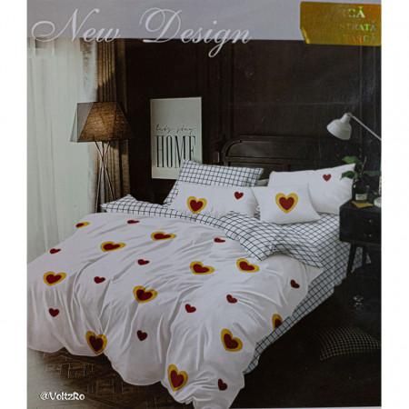 Lenjerie de pat cu 6 piese din bumbac satinat 250 x 230 cm LP6P-9