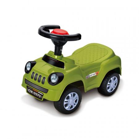 Mașină fără pedale verde model Star of RoadMaster QX-3372