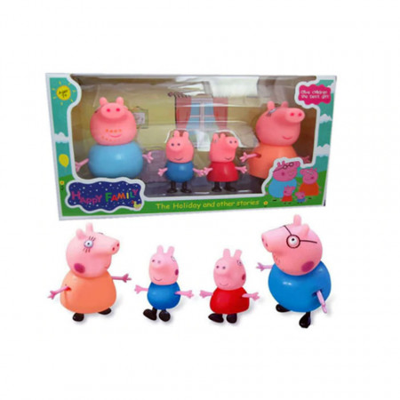 Purcelușii Peppa Pig - Set de 4 figurine