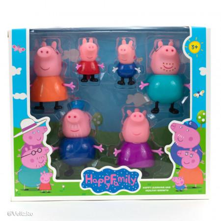 Purcelușii Peppa Pig - Set de 6 figurine poza 2