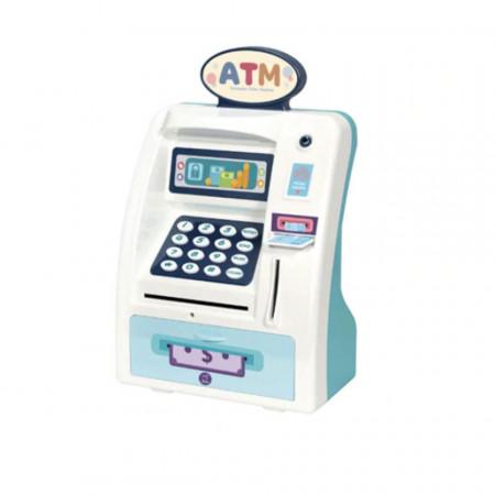 Pușculiță bancomat ATM verde cu sunete și funcții reale model WF-3005