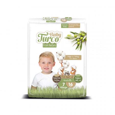 Scutece bumbac, Vegane Baby Turco pentru Copii între 20 și 30 Kg Numărul 7 Set de 16 bucăți