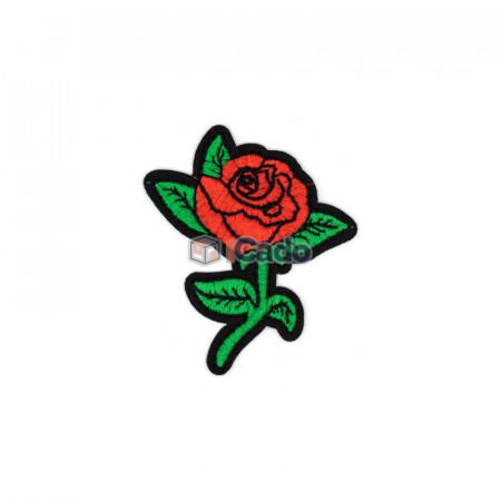 Trandafir brodat 6.5x7.5cm