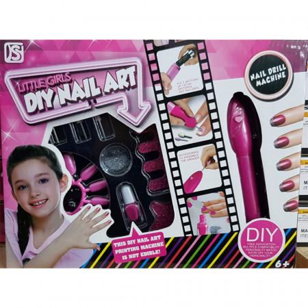 Trusă de manichiură cu pilă electrică pentru fetițe model 891