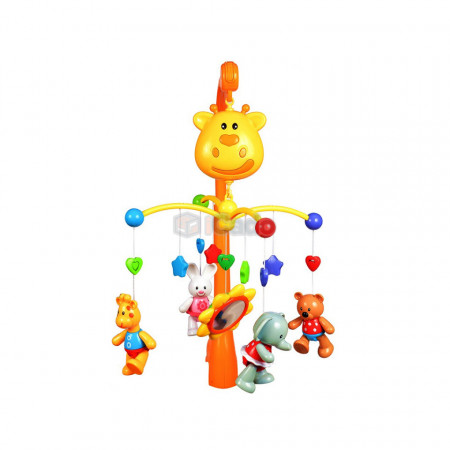 Carusel muzical Girafă pentru bebeluși GoodWay 6919 poza 2