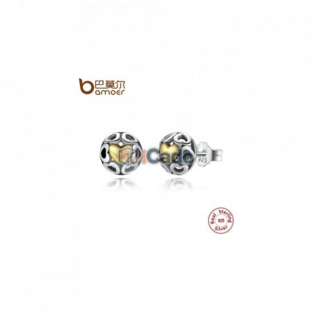 Cercei din argint My One True Love Stud Earrings - BAMOER Brincos 925