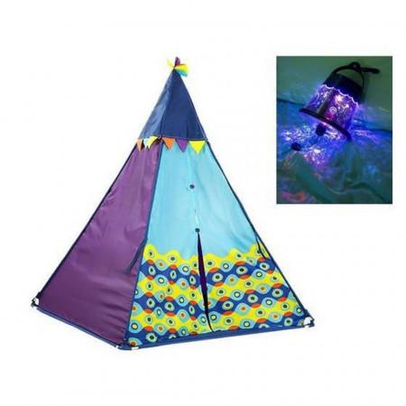 Cort de joacă Indian pentru copii cu lumini și muzică - albastru