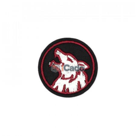 Emblema brodata cap de lup 4.5x4.5cm
