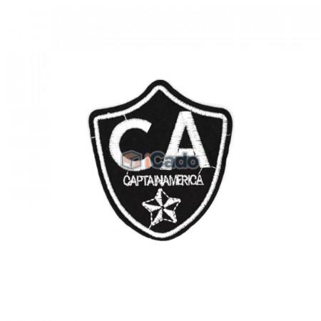 Emblema brodata Captain America 7x8cm