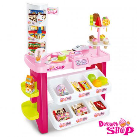 Luxury Supermarket de jucărie Dessert Shop cu 40 de piese