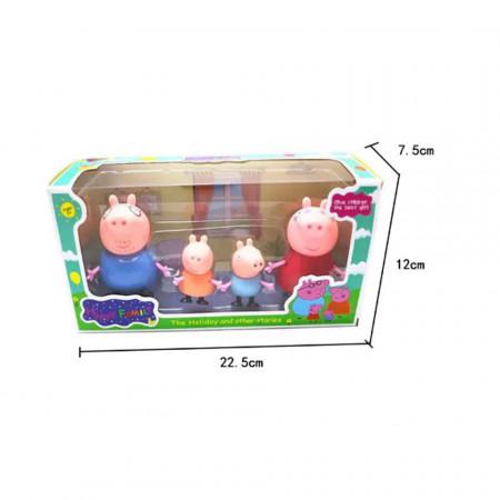 Cutie cu Purcelușii Peppa Pig - Set de 4 figurine