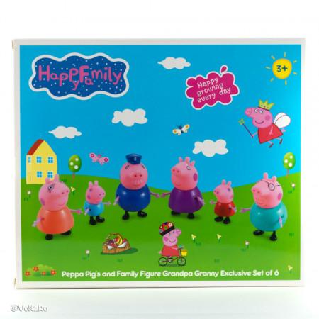Purcelușii Peppa Pig - Set de 6 figurine poza 3