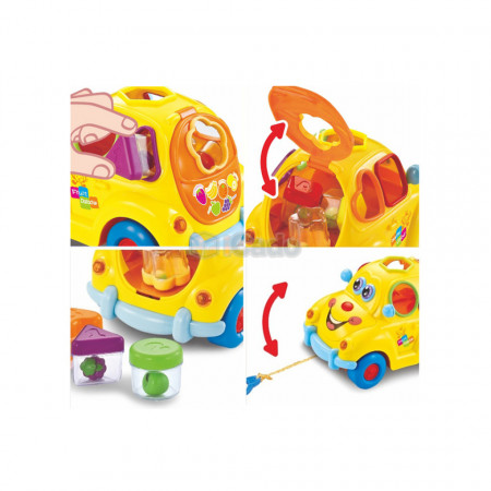 Sortator pentru copii Super Fun Fruit Car - Hola 516 poza 4