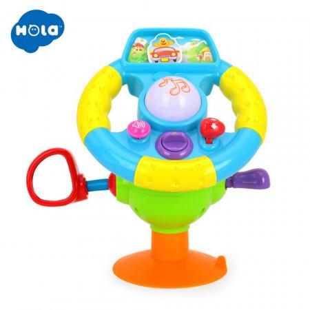 Volan de jucărie interactiv, muzical și multifuncțional model Hola 916