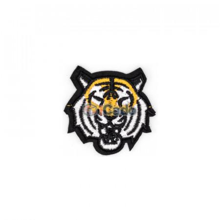 Cap de tigru brodat Dimensiune: 5.5 x 5 cm Modalitate de aplicare: lipici
