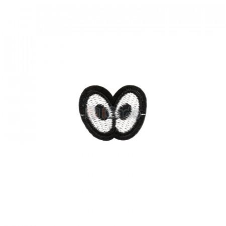 Emblema brodata 2 ochi 3x2.5cm