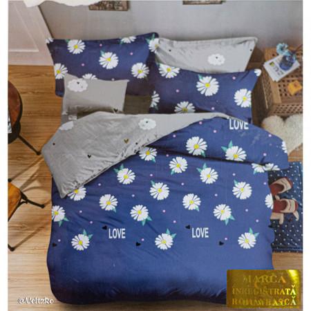 Lenjerie de pat cu 6 piese din bumbac satinat 250 x 230 cm LP6P-11