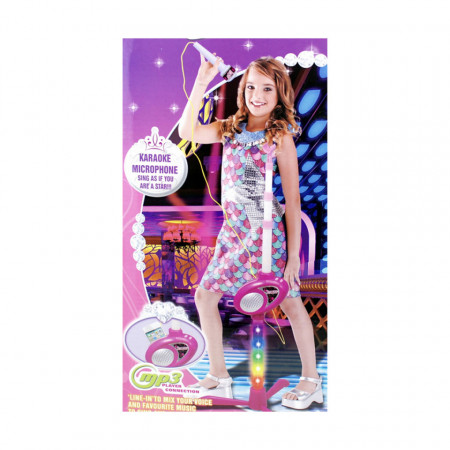 Microfon karaoke model 6363 pentru fetițe de 3 ani+ poza 4