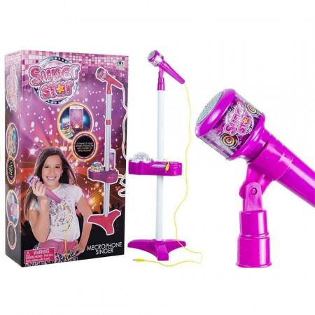 Microfon Super Star cu proiector pentru fetițe de 3 ani+