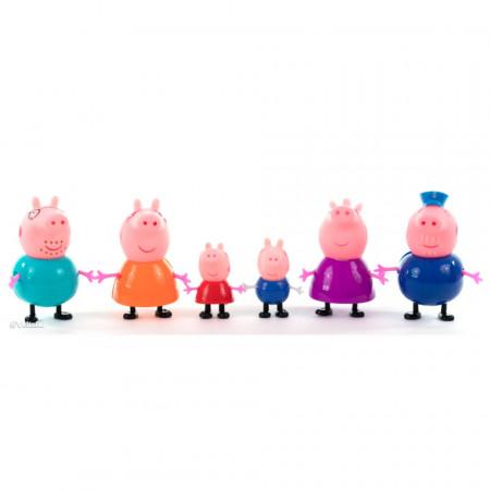 Purcelușii Peppa Pig - Set de 6 figurine poza 1