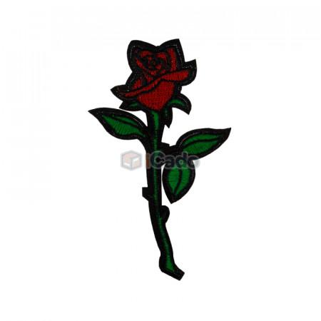 Trandafir brodatModalitate de aplicare: lipici