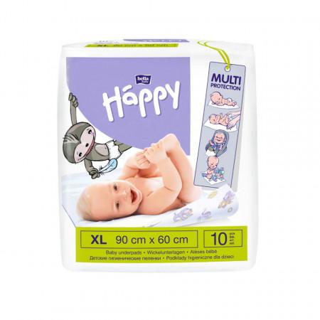 Cearceaf absorbant Happy XL 60x90cm, protecție pat, aleze pentru bebeluși