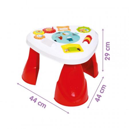 Măsuță de activități cu forme geometrice pentru copii 1 an+ poza 2