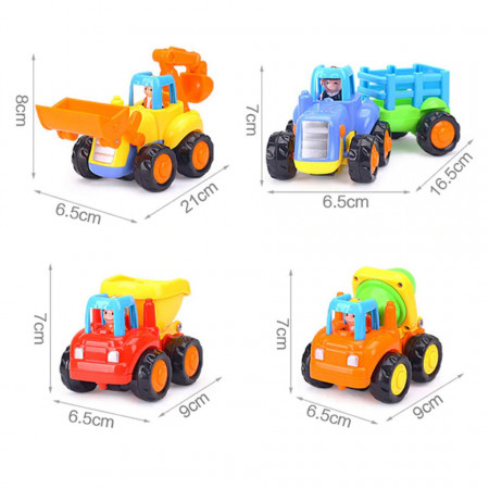 Set de 4 Vehicule Utilitare, model Hola 326 poza 3