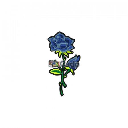 Trandafir brodat 9x17cm