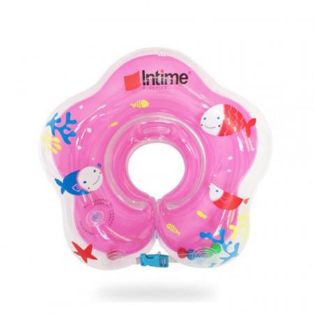 Colac pentru gât pentru bebeluși cu vârsta între 1 lună și 3 ani, model YT-076 roz