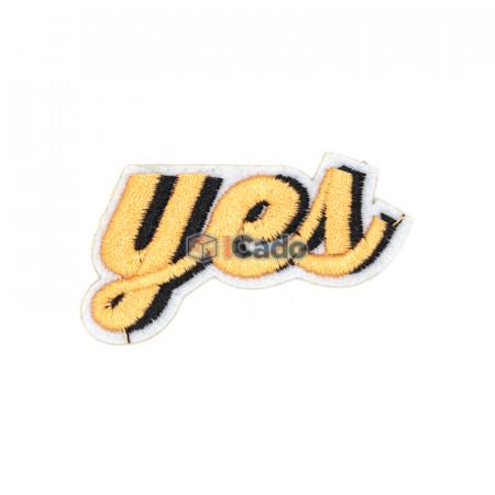 Emblema brodata cu Yes 6x3.5cm