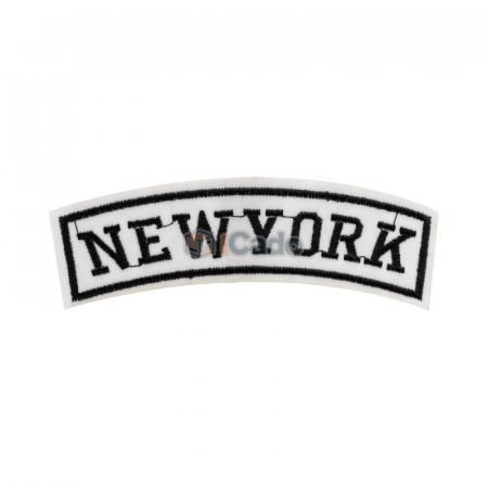 Emblema brodata New York 12x4cm
