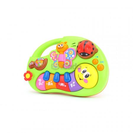 Fluturașul și Omida, pian de jucărie interactiv Hola 927 poza 2