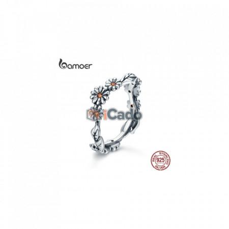 Inel din argint Twisted Daisy Flower - BAMOER 100% 925