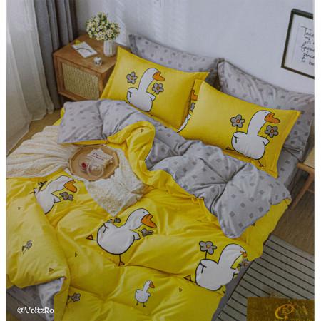 Lenjerie de pat cu 6 piese din bumbac satinat 250 x 230 cm LP6P-13