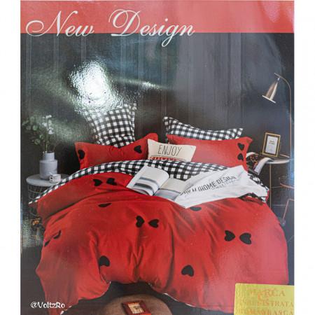 Lenjerie de pat cu 6 piese din bumbac satinat 250 x 230 cm LP6P-23