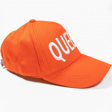 Șapcă porocalie cu logo Queen alb