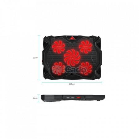 """Suport de răcire CoolCold K11 cu 5 ventilatoare pentru laptop-uri de 17"""" poza 2"""
