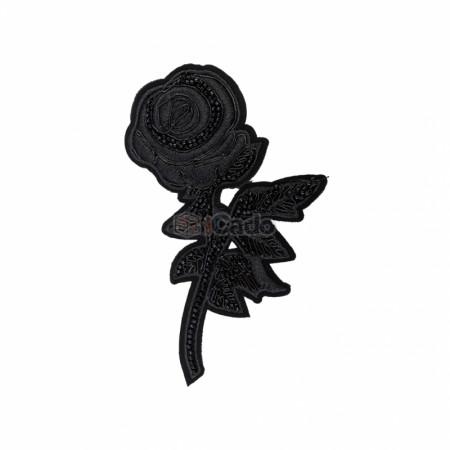 Trandafir brodat 15x9.5cm