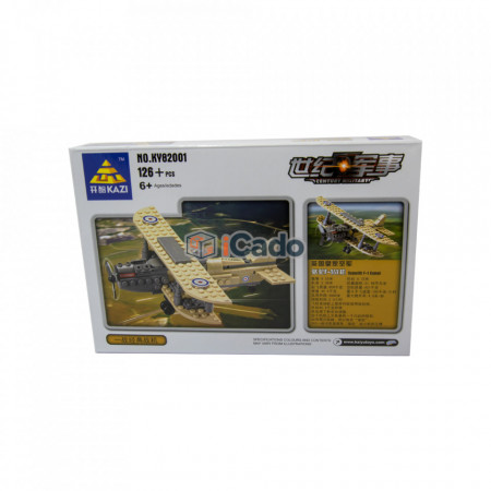 Avion F1 Camel cu 126 piese de tip LEGO model KY82001 poza 2