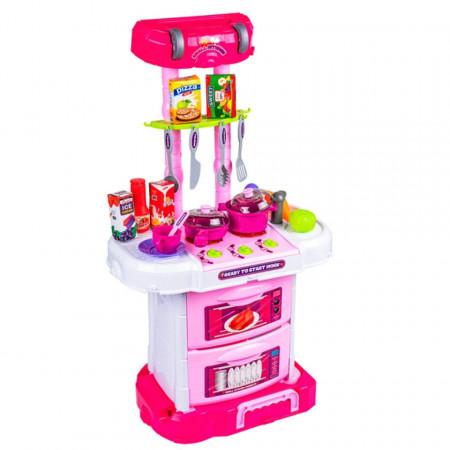 Bucătărie portabilă (valiză) de jucărie cu sunete și lumini