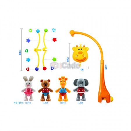 Carusel muzical Girafă pentru bebeluși GoodWay 6919 poza 3