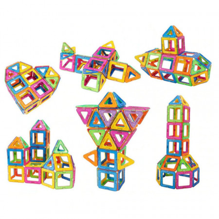 Joc magnetic cu 51 piese, MagFormers, model 003A