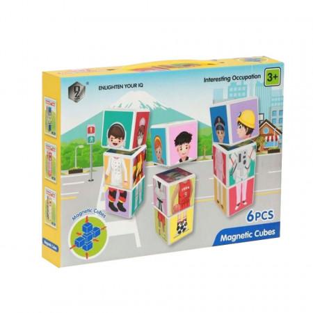 Joc magnetic cu 6 piese, Magnetic Cubes, model HD354A