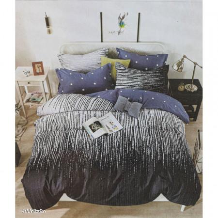 Lenjerie de pat cu 6 piese din bumbac finet dimensiune 250 x 230 cm LP6PF-23